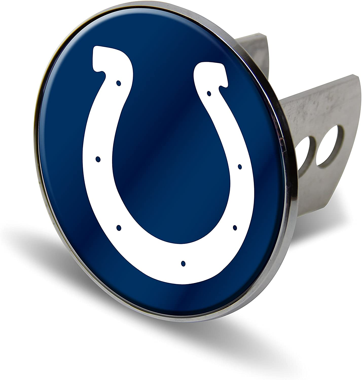 NFL Indianapolis Colts Laser Cut Metal Hitch Cover, Large, Silver