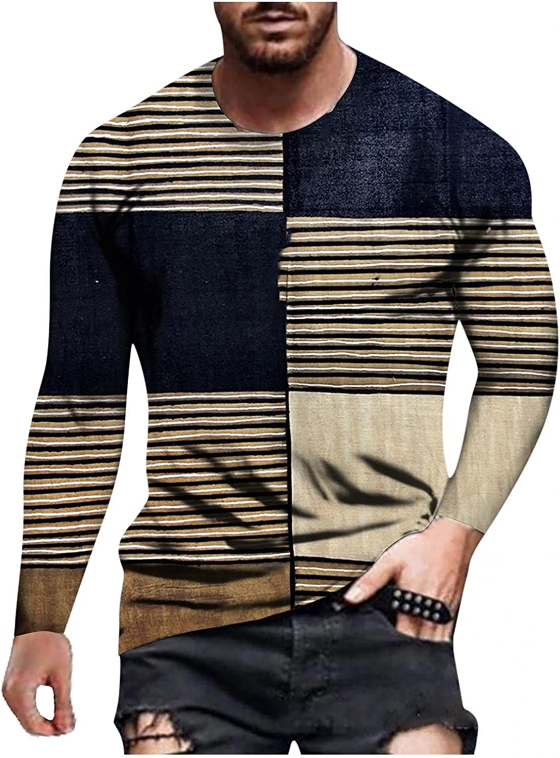 Long Sleeve Tee Shirts for Men Abstract Graffiti Sport Pullover Muscle T-Shirts Athletic Sweatshirt Workout Shirts