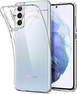 Spigen Galaxy S21 Plus ケース [ SCG10 ] TPU 全面クリア 薄型 軽量 衝撃吸収 傷防止 ワイヤレス充電対応 リキッド・クリスタル ACS02383 (クリスタル・クリア)