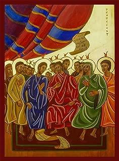 Coptic Pentecost Canvas Icon Print. FREE PRIORITY SHIPPING!