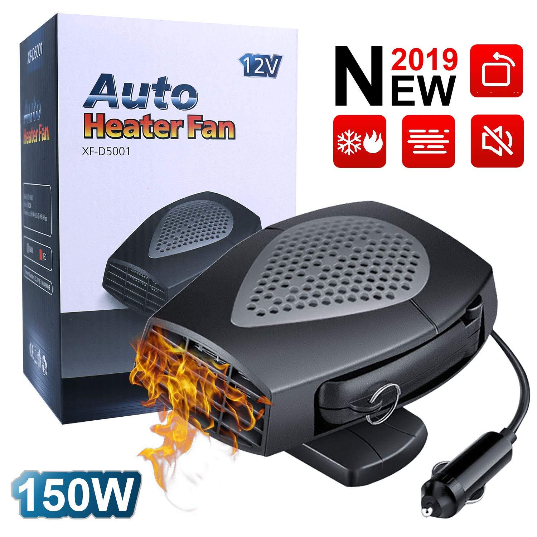 12V 2 in 1 Car Heater Air Cooler Fan 3 Outlets Windscreen Auto Demister Defogger