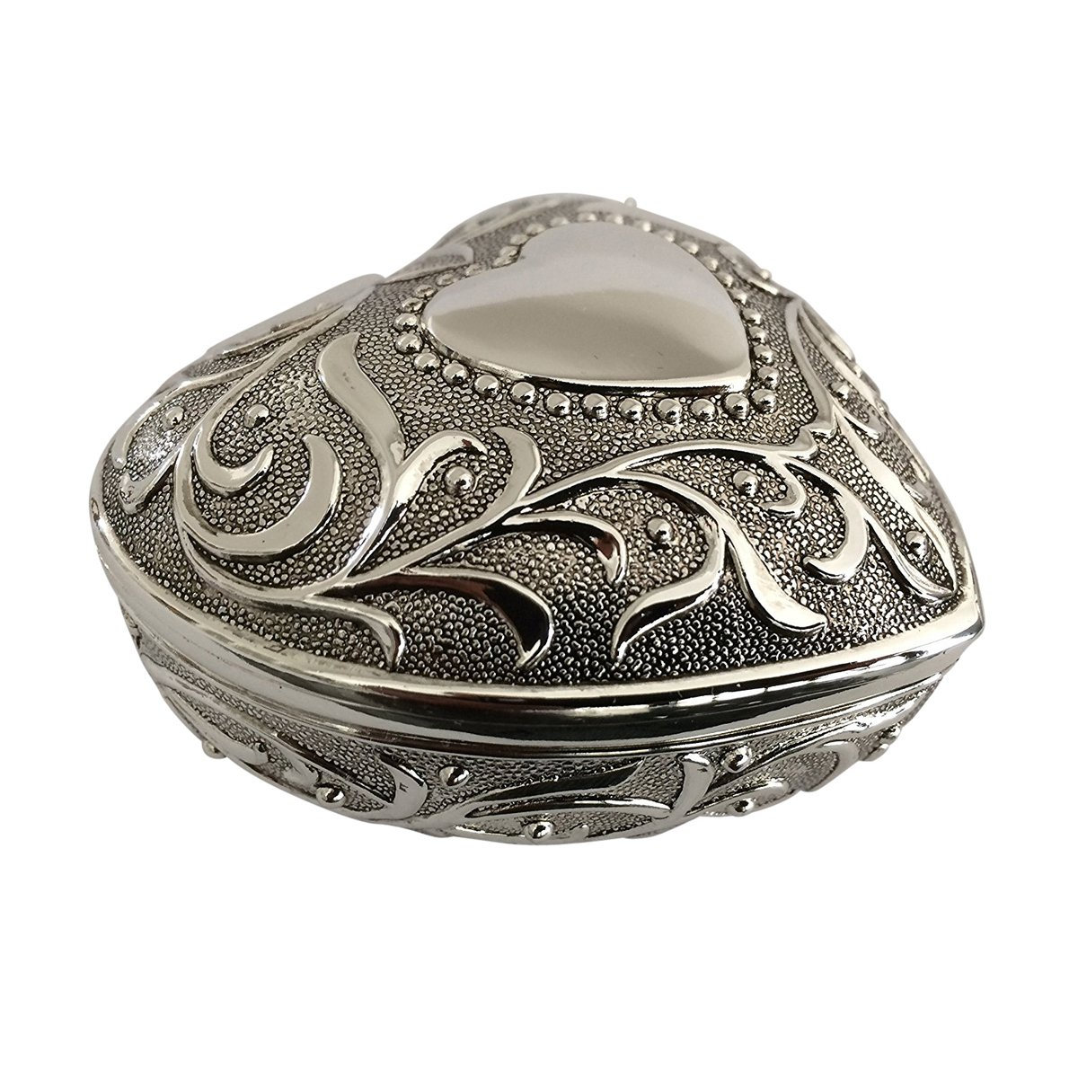 首饰盒心形 8.4x8.4厘米 镀银 适合您*喜欢的首饰