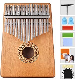 Professiona Marimba Instrumento 17 Teclas Kalimba,portátil Mbira Sanza Africano Madera Dedo Pulgar Piano,Instrumento con Martillo de Afinación y Accesorios,Kalimbas para Niños Principiantes Adultos