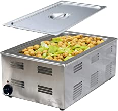 Tiger Chef Food Warmer - Full Size Countertop Food Warmers - Commercial Electric Steam Table for Buffet - Includes Steam Table Pan Cover