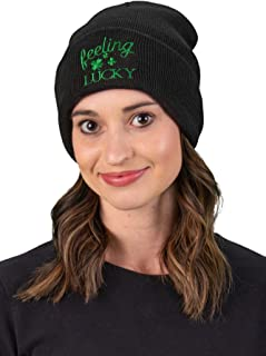 Funky Junque Embroidered Beanie Dog Mom Gym Sports Holiday Knitted Hat Skull Cap