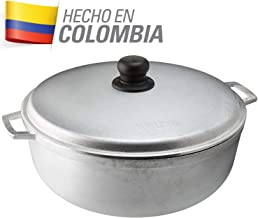 IMUSA USA GAU-80506W 6.9Qt Traditional Colombian Caldero (Dutch Oven) for Cooking and Serving, Silver