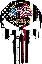Evan Decals Thin Red Line Firefighter - Fallen Heroes 9/11 Decal Vinyl Sticker 4