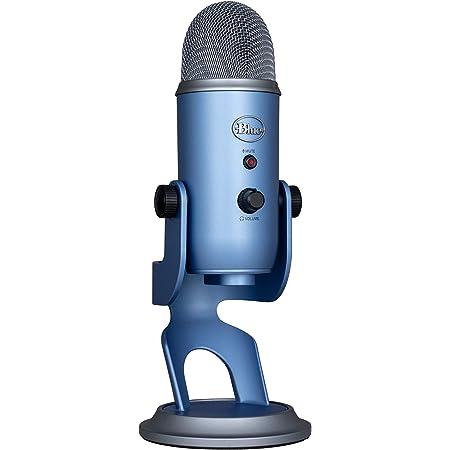 Blue Micrófono USB profesional Yeti para grabación, streaming, podcasting, radiodifusión, gaming, voz en off y más, multipatrón, Plug'n Play en PC y Mac - Azul Claro