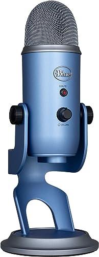 Blue Microphones Yeti, Micro USB pour Enregistrer et Diffuser sur PC et Mac, 3 Capsules Statiques, 4 Diagrammes Direc...