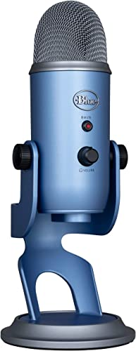 Blue Yeti Microphone USB Professionnel Pour Enregistrement, Streaming, Podcast, Diffuser, Gaming, Voix Off, et plus, ...