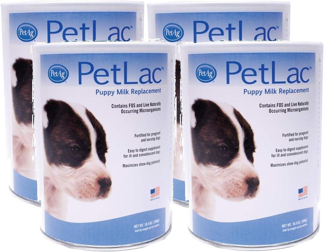 Pet Ag 4 Pack Kansas New popularity City Mall PetLac 10.5-Ounces Each Milk Puppies Powder
