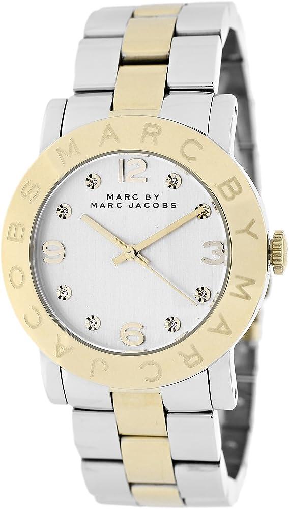 Marc jacobs orologio da donna amy in acciaio inossidabile MBM3139