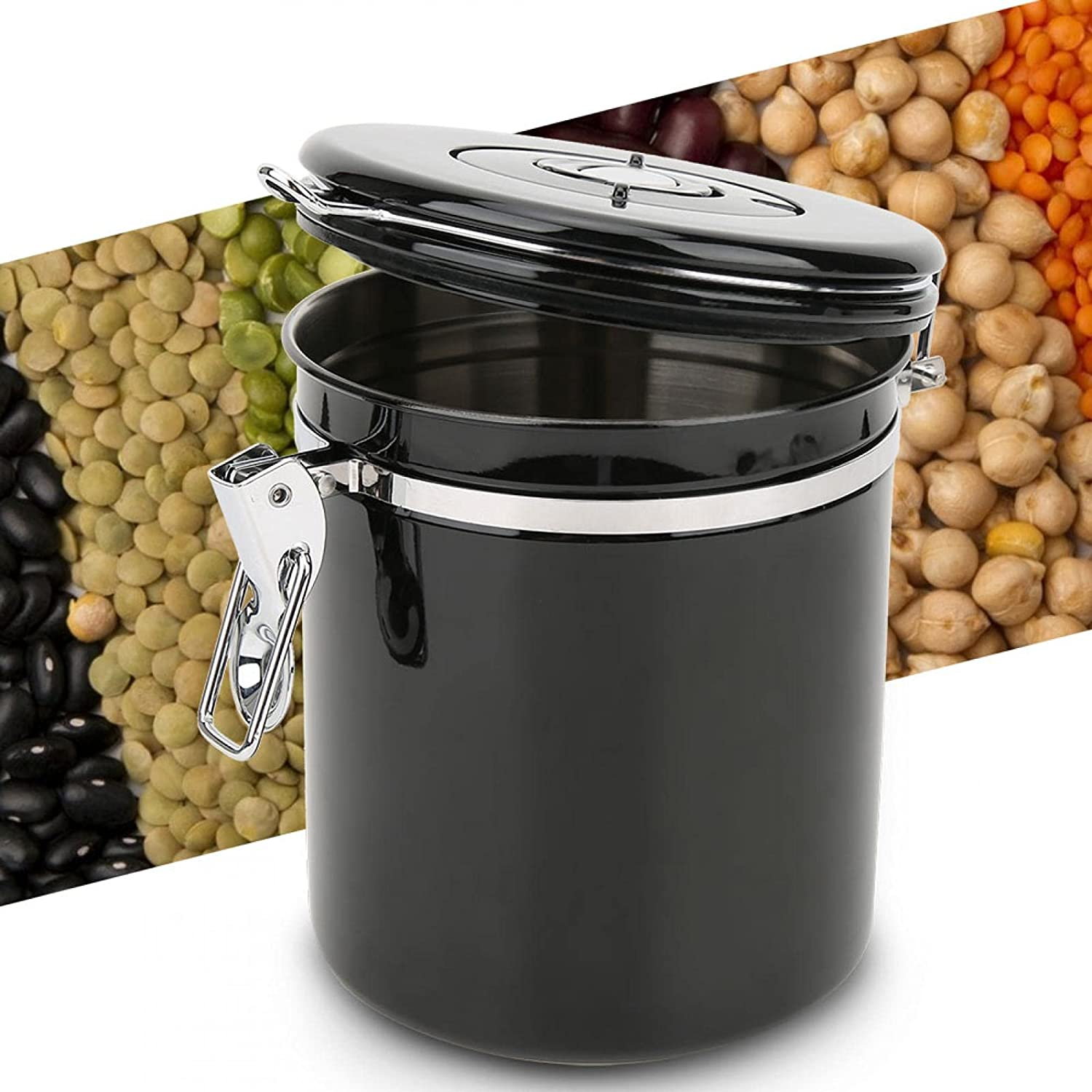 Coffee Food Canister, Sealing Jar 1.5L Coffee Canister, for Food