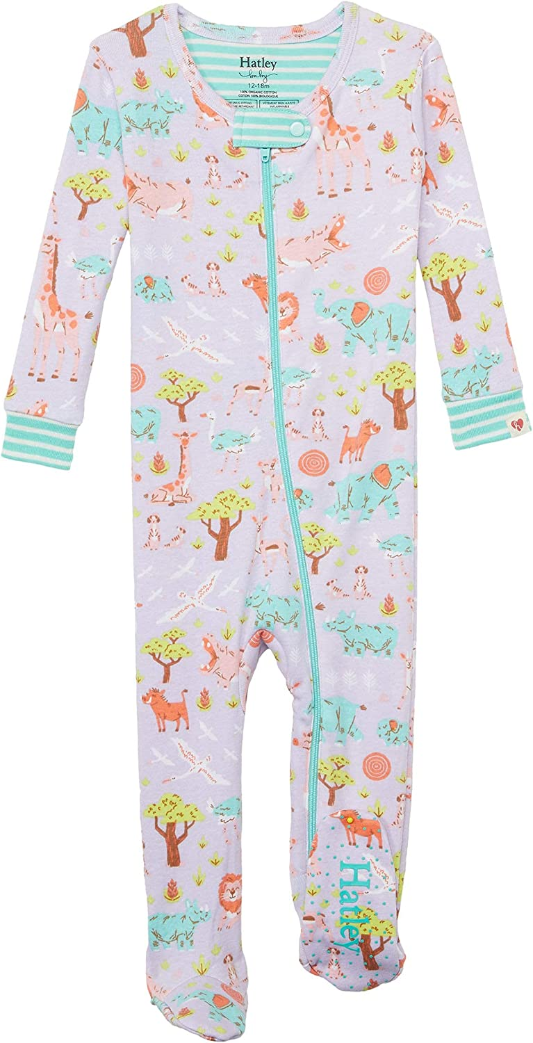 Hatley Baby Girl's Safari at Dusk Organic Cotton Footed Coverall (Infant)