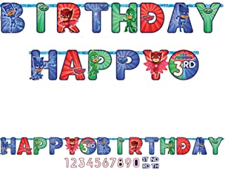 Amscan PJ Masks Happy Birthday Add-an-Age Letter Banner
