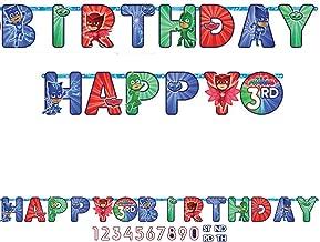 Amscan PJ Masks Happy Birthday Add-an-Age Letter Banner