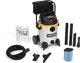WORKSHOP Wet/Dry Vacs WS1600SS Aspiradora para Taller Mojado Seco Acero Inoxidable Trabajo Pesado con Carrito, 16 galones,...