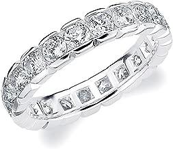 Eternity Wedding Bands 2.0 CTTW Diamond Eternity Ring, 2ct Wedding Anniversary Ring in 14K Gold
