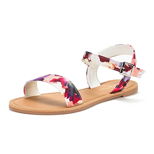 e2342b82bd15f DREAM PAIRS Women s Cute Open Toes One Band Ankle Strap Flexible Summer Flat  Sandals New