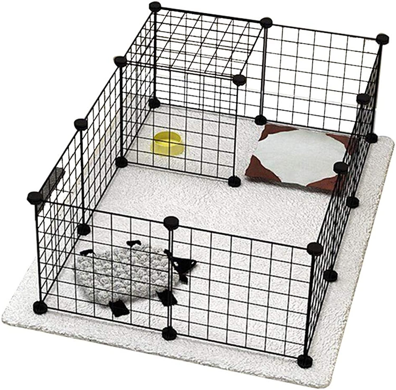Foldable Metal Pet Carrier Expandable Metal Playpen Cage Pet Dog Pen Puppy Cat Rabbit Foldable Playpen Indoor Outdoor Enclosure Run Cage (Size   6 pieces)