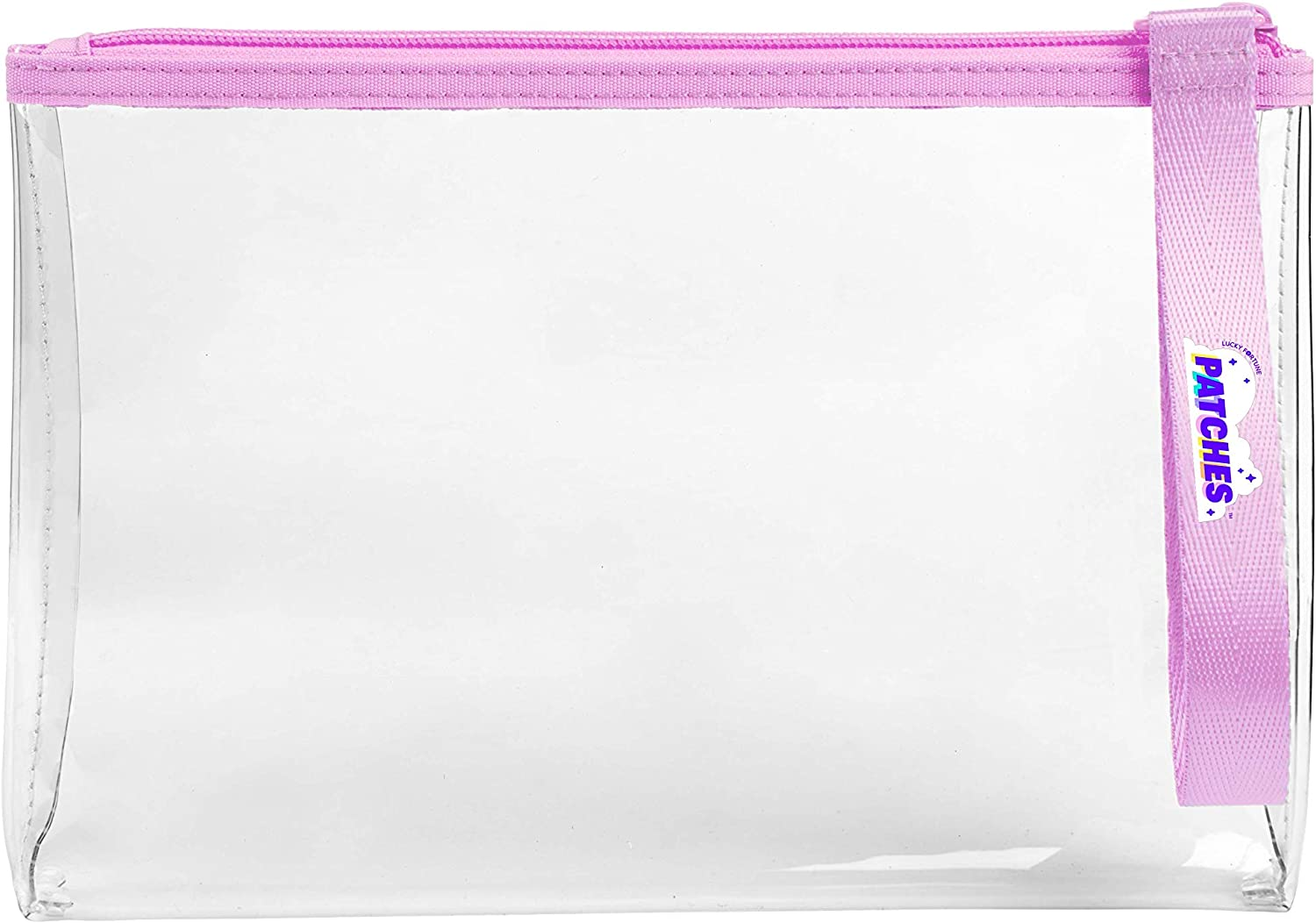 Patches - Customizable See-Through Purple Wristlet