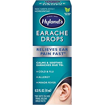 Ear Drops for Swimmers Ear and Allergy Relief for Kids and Adults by Hyland's, for Clogged Ears, Earaches, Fast Natural Homeopathic Pain Relief, 0.33 Ounce