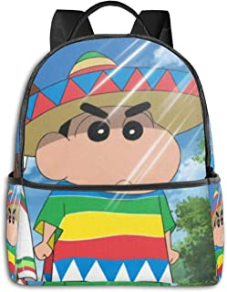 Crayon Shinchan Fashion Backpack Bookbag Mochila Monedero para Mujer 12X14.5X5 in