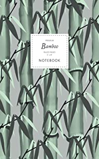 Bamboo Notebook - Ruled Pages - 5x8 - Premium: (Grey Edition) Notebook 96 ruled/lined pages (5x8 inches / 12.7x20.3cm / Ju...