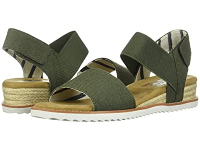 BOBS from SKECHERS Desert Kiss Poppy Bloom (Olive) Women