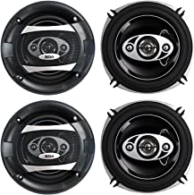 "$52 » 4 BOSS P55.4C 5.25"" 600W 4-Way Car Coaxial Audio Speakers Stereo P554C 2 Pair"