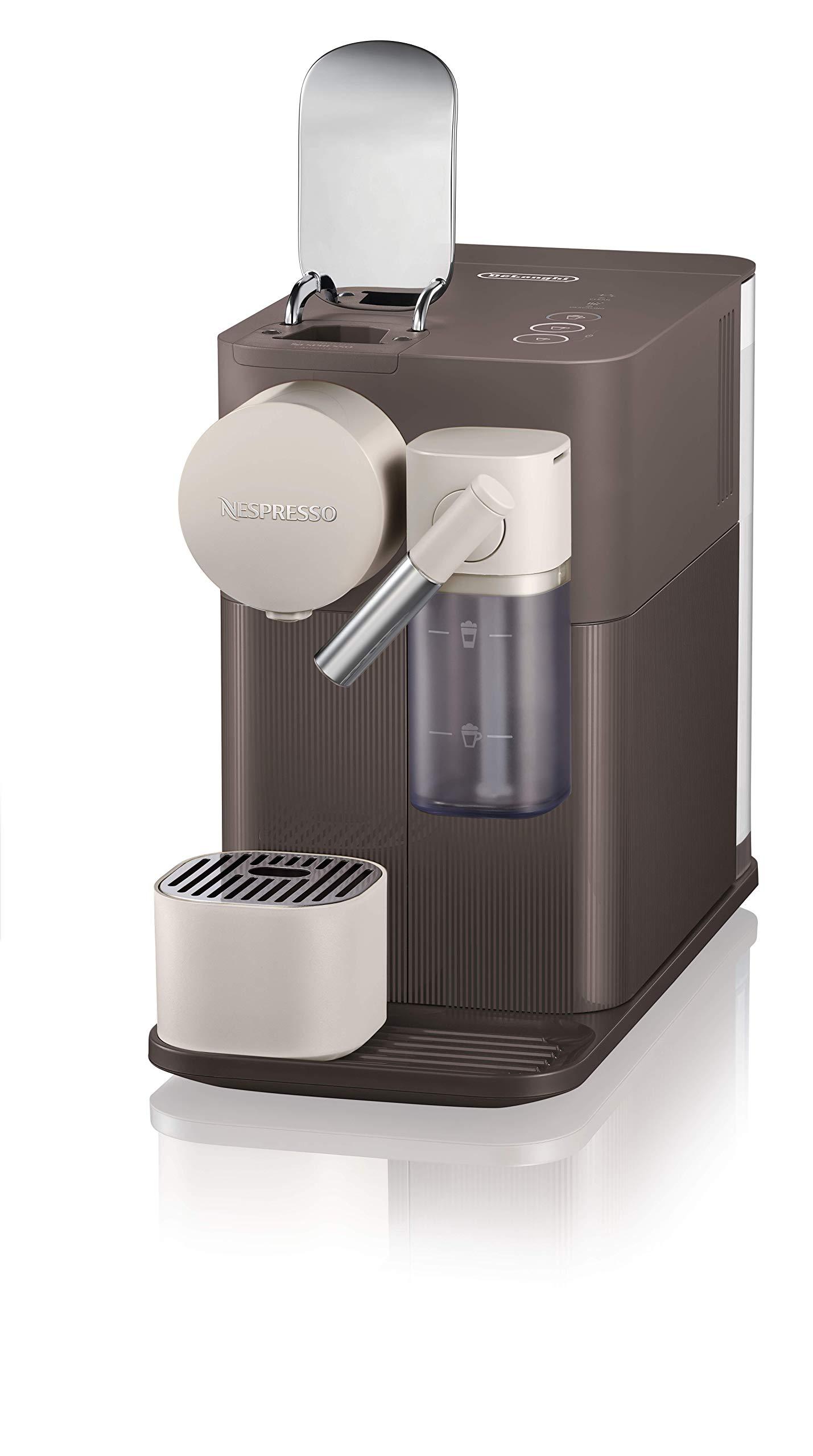 Nespresso EN500BW DeLonghi Lattissima One - Cafetera monodosis de cápsulas Nespresso con depósito de leche compacto, 19 bares, apagado automático, color moccha marrón 15x32x26cm: Amazon.es: Hogar