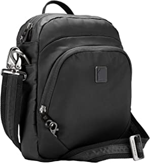 Lewis N. Clark Secura RFID Blocking Anti-Theft Backpack + Crossbody Bag for Travel, Onyx