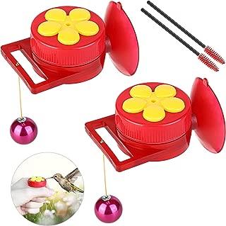 Oak Leaf Handheld Hummingbird Feeders 2 - Pack, Window Humming Bird Feeders for Outdoors with 2 Cleaning Brushes