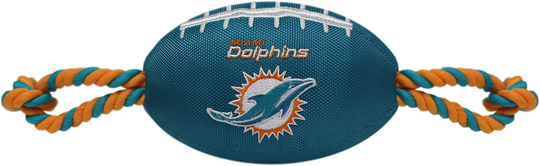 Pets Sacramento Mall First NFL Miami Soldering Dolphins Football Nylon Tough Qual Dog Toy