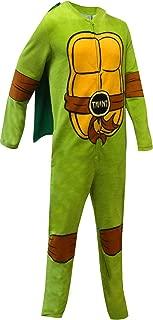 Bioworld Merchandising Men's Teenage Mutant Ninja Turtle Fleece One Piece Pajama with Cape