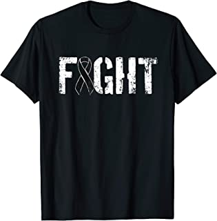 Fight Melanoma Cancer - Military Style Awareness Ribbon T-Shirt