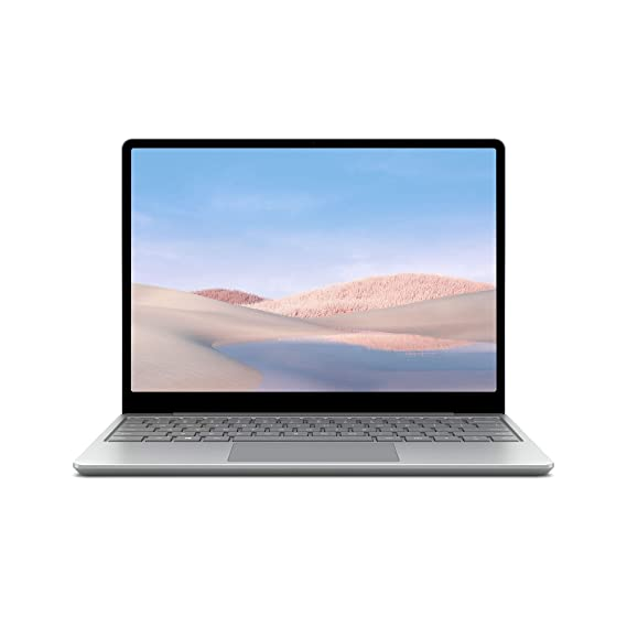 """Microsoft Surface Laptop Go 10th Gen Intel Core™ i5-1035G1 31.5 cms (12.4"""") Touchscreen Laptop (8GB/128GB SSD/Windows 10 Home in S Mode/Intel UHD Graphics/Platinum/1.110 kg), THH-00023"""