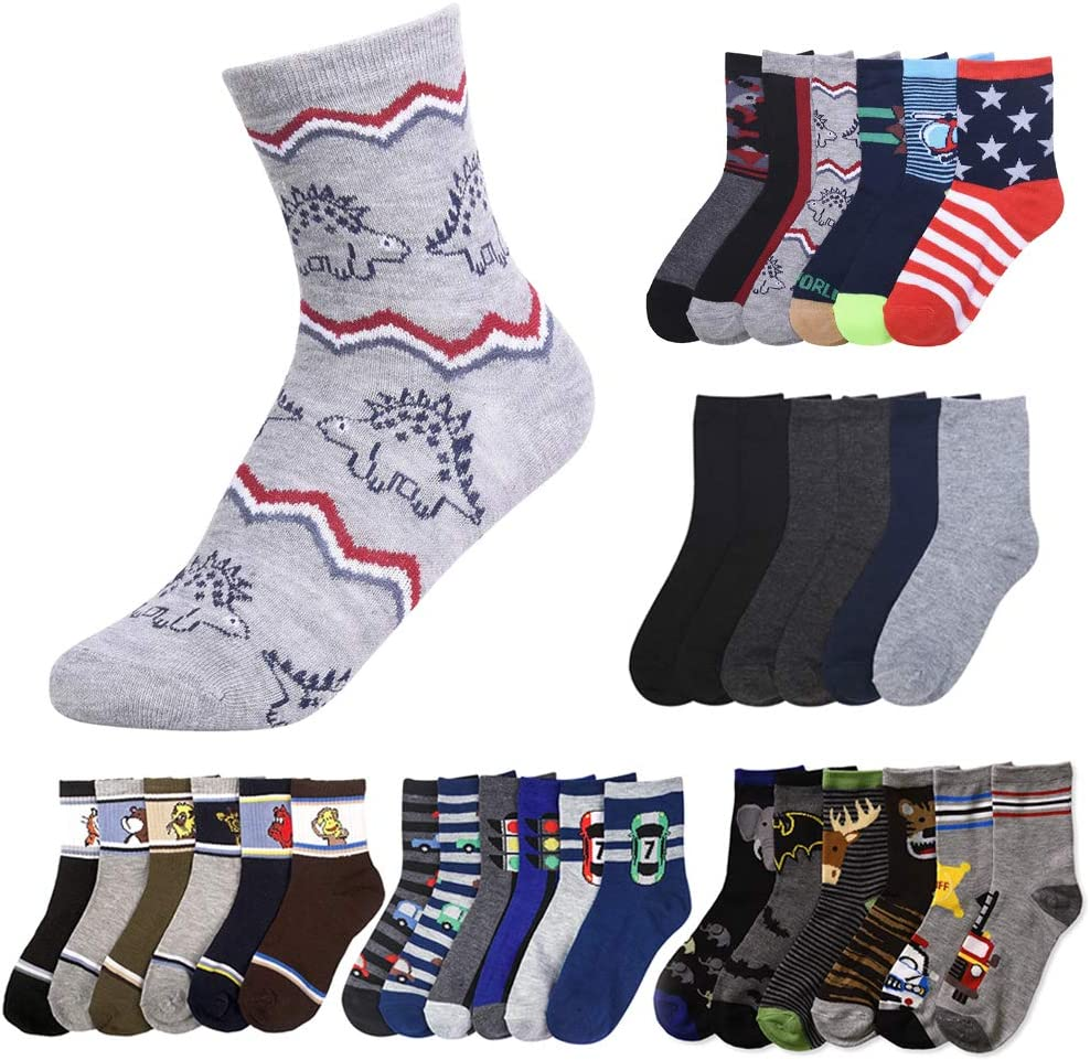 12 Pairs Assorted Ranking TOP9 Boys Popular product Socks Size Kids Years Ages 6-8 Casual Spo