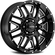 Ultra 203BM HUNTER BLACK Wheel with Gloss CNC Milled Accents and Clear-Coat (0 x 9. inches /6 x 139 mm, -12 mm Offset)