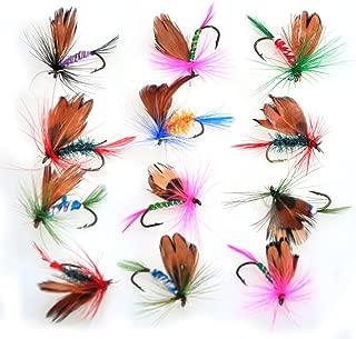 Piscifun 12pcs Fly Fishing Flies Kit Butterfly Like Trout Bass Floating Fishing Lure