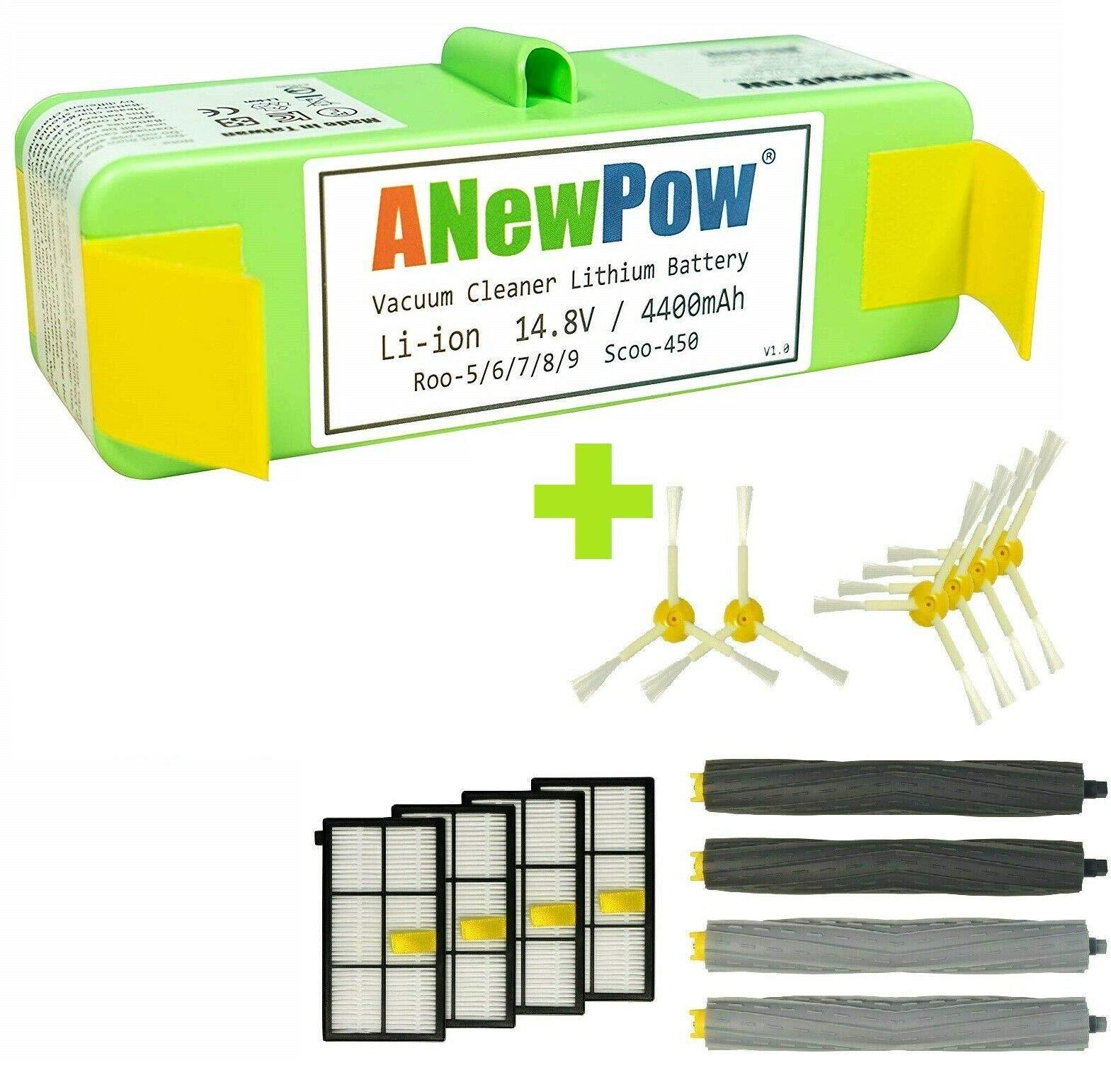 Batería de ion de litio 4400 mAh para iRobot Roomba 800 870 871 880 865 866 886 895 Serie con accesorios de repuesto para robot aspirador: Amazon.es: Hogar