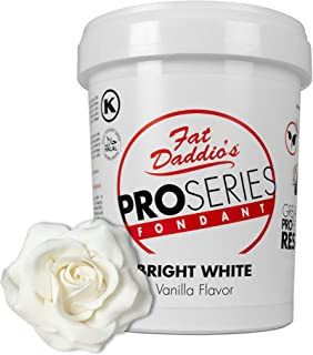 Fat Daddio's Rolled Fondant Icing Bright White 2 Pounds