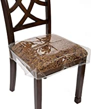 """Houseables Chair Seat Covers, Plastic Cover, Fits 16"""" – 18"""" Seats, 2 Pack, Clear, Adjustable, PVC, Waterproof Protector, V..."""