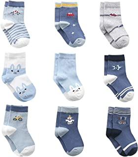 Cotton Coming Coton Bébé garçon Chaussettes Naissance, 9 Paires Mignon Chaussettes pour Bébé garçon