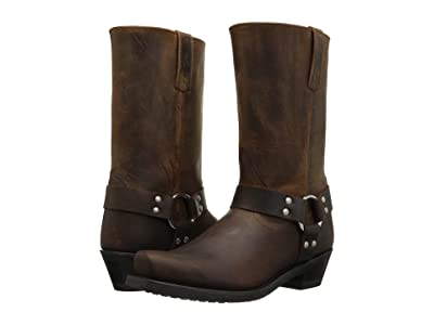 Old West Boots Harness Boot (Brown Distressed) Women