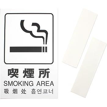 光(Hikari) サインプレート 多国語ピクトサイン 【喫煙所】 アクリルマット仕上げ テープ付き 300x200x2mm TGP2032-7