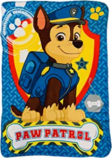 Boys Paw Patrol Chase The Police Dog with paw Pink and Shield Throw Blanket
