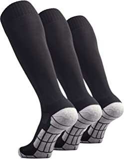 Soccer Socks (1/3/5 pairs) Team Sport Knee High Socks for Adult Youth Kids
