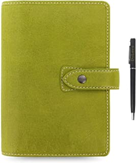 $129 » Filofax Malden Leather Organizer Agenda Calendar Bundle with DiLoro Ballpoint Pen (Pear 2021 with Pen, Personal Paper Size...