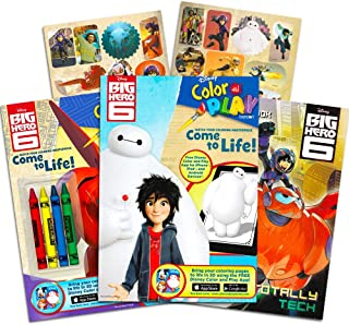 Big Hero 6 Coloring Book Super Set -- 3 Coloring and Activity Books with Games, Puzzles, Stickers and Crayons (Big Hero 6 Party Supplies)